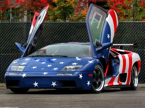 lamborgini usa american flag lamborghini diablo vsr