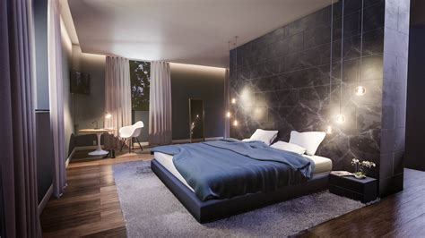 create  modern bedroom interior  blender   minutes