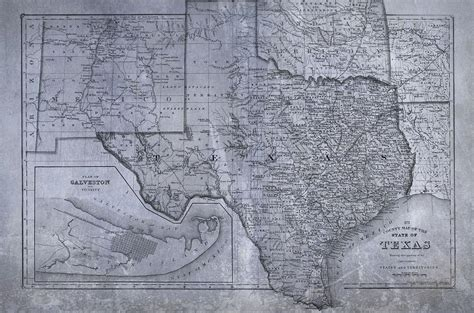 historic texas map historic texas map digital by dan sproul