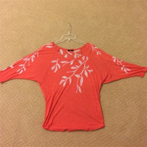 salmon colored shirt 59 enti tops salmon colored flowy shirt from ellie