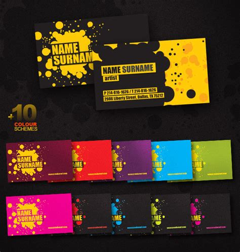 creative business cards templates psd 55 free creative business card templates designmaz