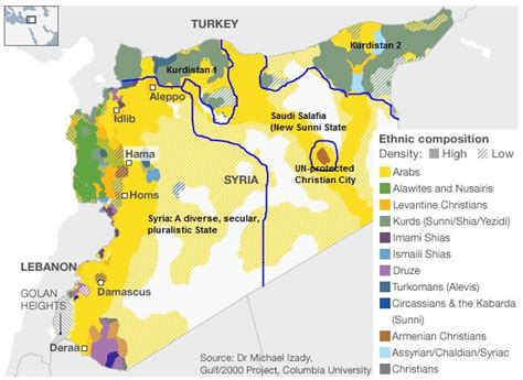 syria live map map of syria that depicts its ethnic composition map