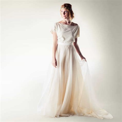 Handmade Wedding Dresses - silk two wedding dress dandelion on larimeloom