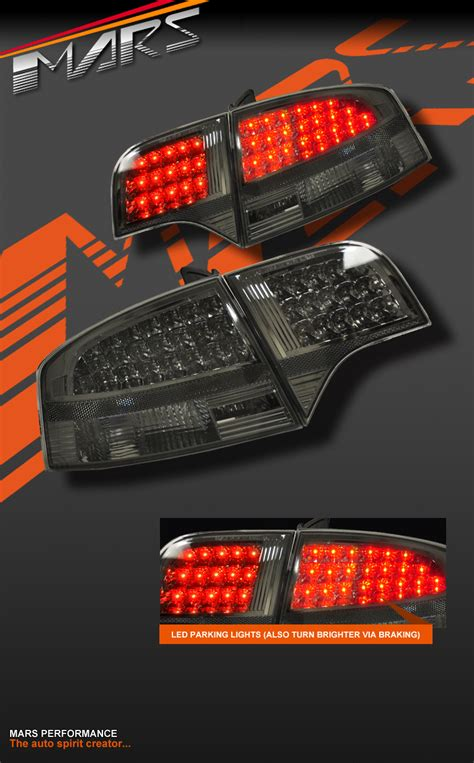 smoked black led tail lights for audi a4 s4 rs4 s line b7