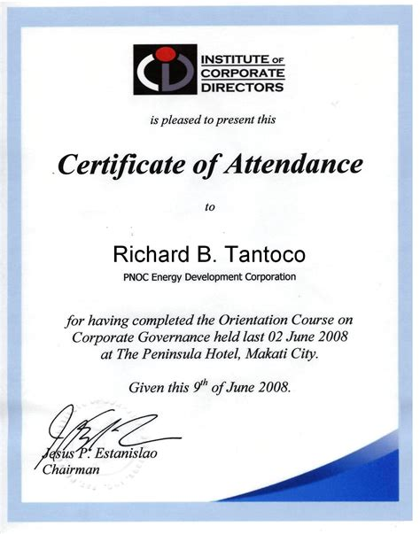 certification letter for attendance certificate of attendance doc 1 pictures