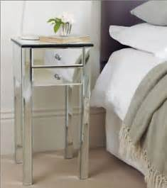 mirrored glass bedroom furniture x2 bedside tables new ebay
