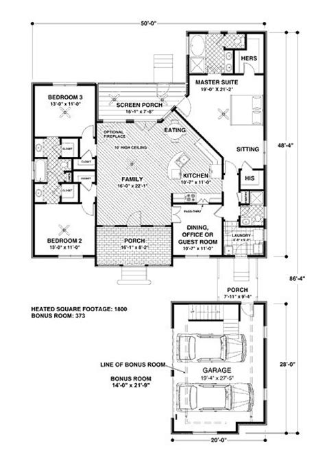 1800 square house plans 1800 square 4 bedrooms 3 batrooms 2 parking space on 1 levels house plan 6193 all