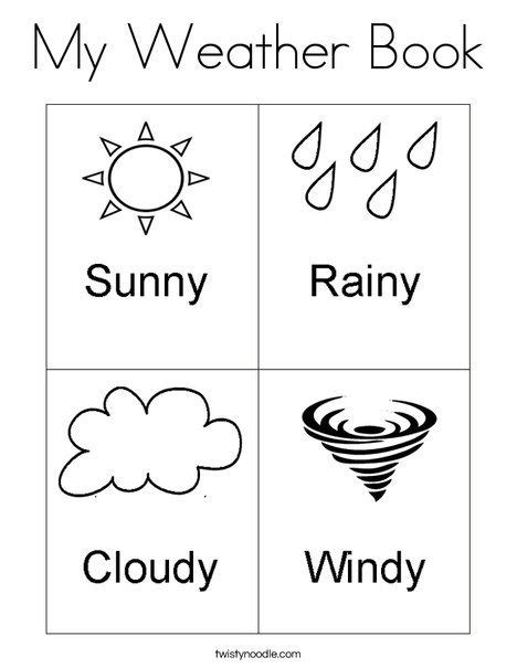 worksheets for preschoolers on weather my weather book coloring page from twistynoodle com