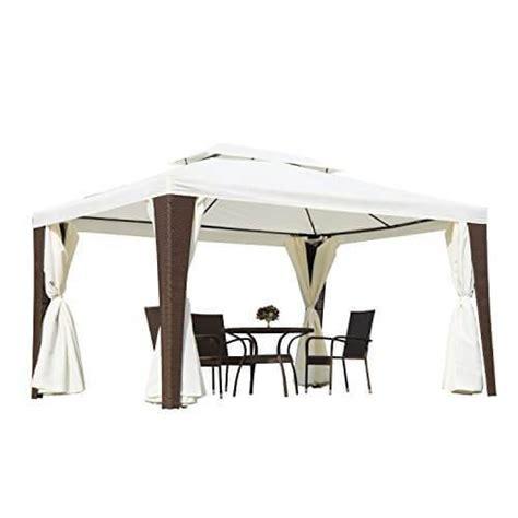 pavillon polyrattan produkt outsunny polyrattan gartenpavillon 187 pavillon