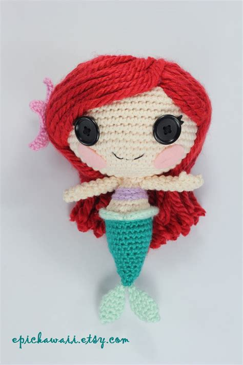 amigurumi ariel pattern pattern mermaid crochet amigurumi doll by epickawaii on etsy
