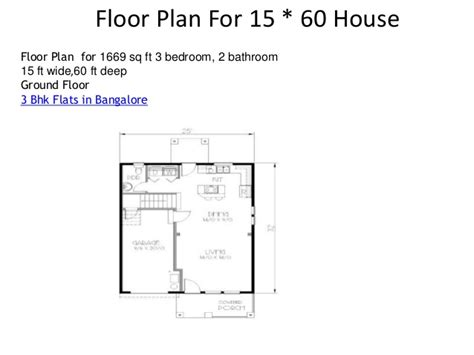 house design 15 feet by 60 feet floor plan for 15 60 house