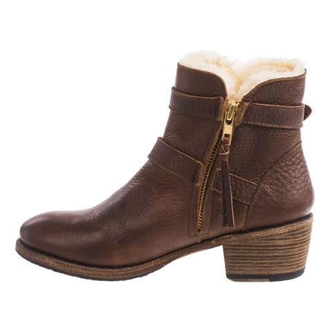 Ankle Leather Booties leather ankle boots yu boots