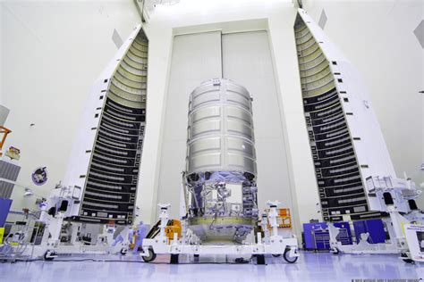 orbital atk upgraded cygnus spacecraft stacked and ready to conduct oa