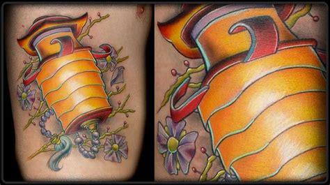 big brain tattoo latern by lenny renken tattoos