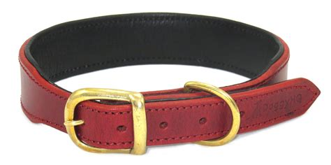 Handcrafted Collars - the vintage collection collar claret luxury leather