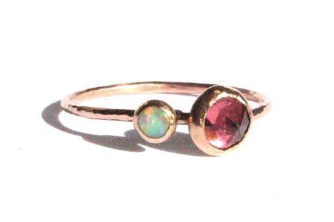 tourmaline opal cut pink tourmaline ring opal ring solid gold