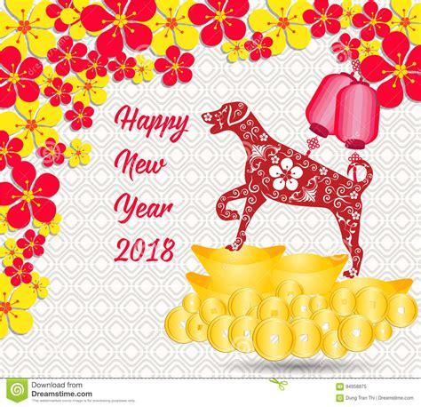happy money new year happy new year 2018 card is gold coins money