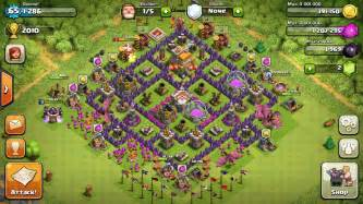 Level 7 town hall defense clash of clans level 7 base design