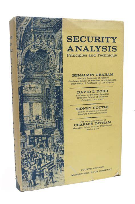 security analysis security analysis by benjamin graham 1962