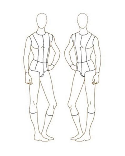 design mannequin template drawing mannequin outline sketch coloring page