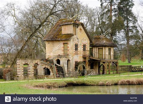 the mills house the mill house the queen s hamlet palace of versailles paris stock photo royalty