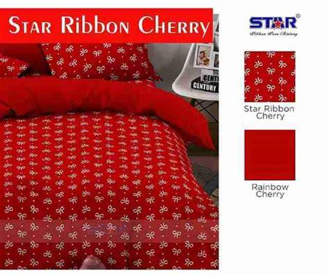 Harga Sprei Merk Cherry detail produk sprei dan bedcover ribbon cherry toko