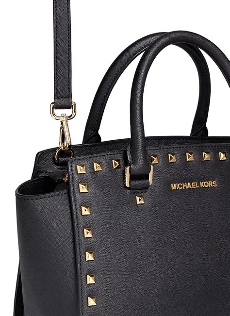 Tas Michael Kors Original Mk Selma Size L new michael kors selma stud medium bag leather crossbody