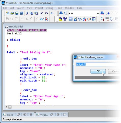 tutorial visual basic autocad previewing dcl files afralisp