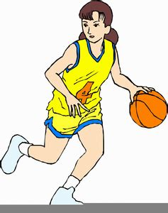 animated girls basketball clipart  images