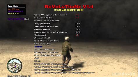 mod gta 5 xbox 360 online gta iv revolutiionz v1 4 mod menu xbox 360 youtube