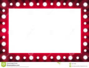 Vanity With Lights Around Mirror Red Back Stage Light Bulb Mirror With White Space Stock