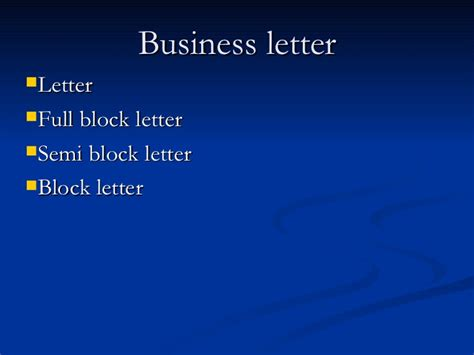 business letter ppt business letter presentation