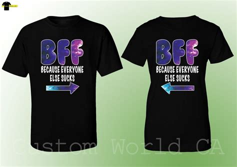 Where To Get Matching Shirts T Shirt Bff Galaxy Shirts Best Friend