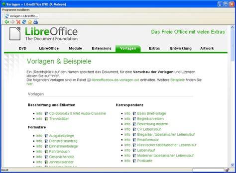 Lebenslauf Template Libreoffice Libre Office Vorlage Installieren