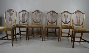 Edwardian Dining Chairs For Sale Edwardian Hepplewhite Waring Dining Chairs Set Of 6 For Sale At Pamono
