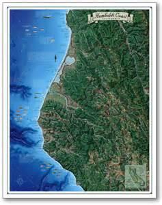 map of humboldt county california humboldt coast map coastal california series