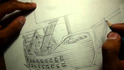 barco pirata dibujo a lapiz dibujo de barco del siglo xvii ed youtube
