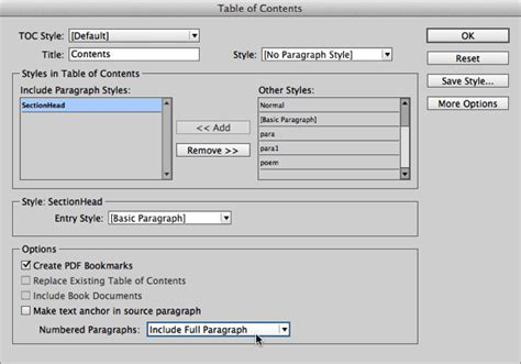 indesign sections jump quickly to any section in your indesign document