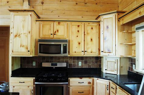 Kitchen Cabinets Pine Crafted Solid Pine Kitchen Cabinets Mitrick