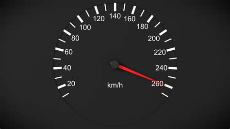 design speed definition car tachometer and moving pointer on it hd 1080 loop
