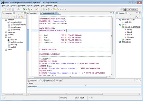Section In Cobol by Image Gallery Microsoft Cobol