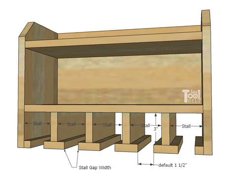 cordless drill charge station organizer easy custom sketch