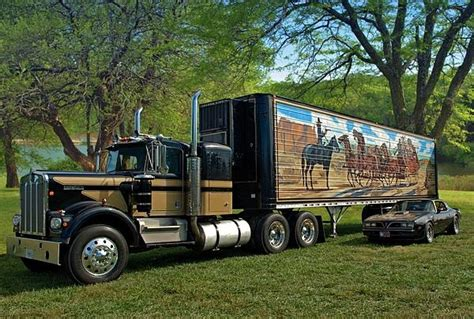this great looking 1973 kenworth w900a smokey and the
