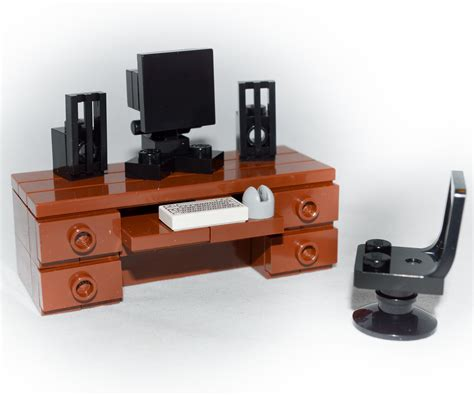 How To Build Computer Desk Lego Furniture Computer Desk Set W Keyboard Monitor Mouse Speakers Chair Ebay