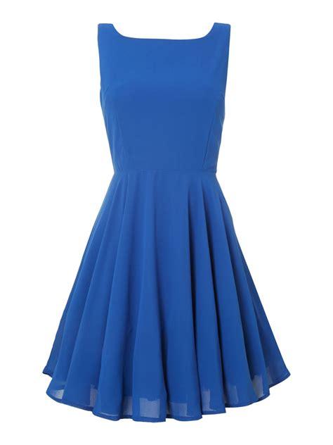 yukita plain dress blue lyst true decadence plain prom dress in blue