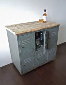 metal kitchen storage cabinets vintage metal lockers with reclaimed wood top on casters