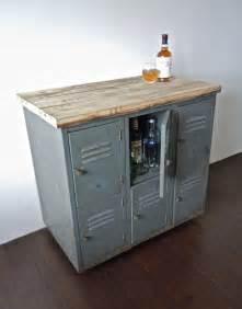 Curio Cabinet Repurposed Vintage Metal Lockers With Reclaimed Wood Top On Casters
