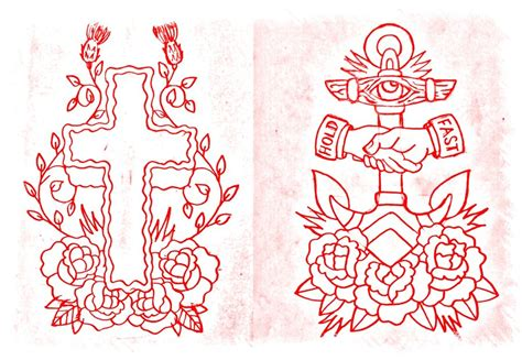 old school cross tattoos cross and anchor by bmxninja on deviantart