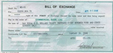 Advantages Of Letter Of Credit And Bankers Acceptance Bill Of Exchange Sle Bill Of Exchange Transaction Bills Of Exchange Bill Of Exchange