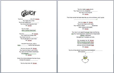 Théière Originale 2293 by The Grinch Song Fill In The Blanks Worksheet